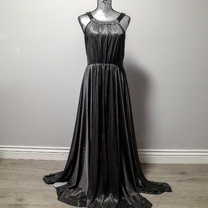 NWT Satin Halter Neck Gown - Medium
